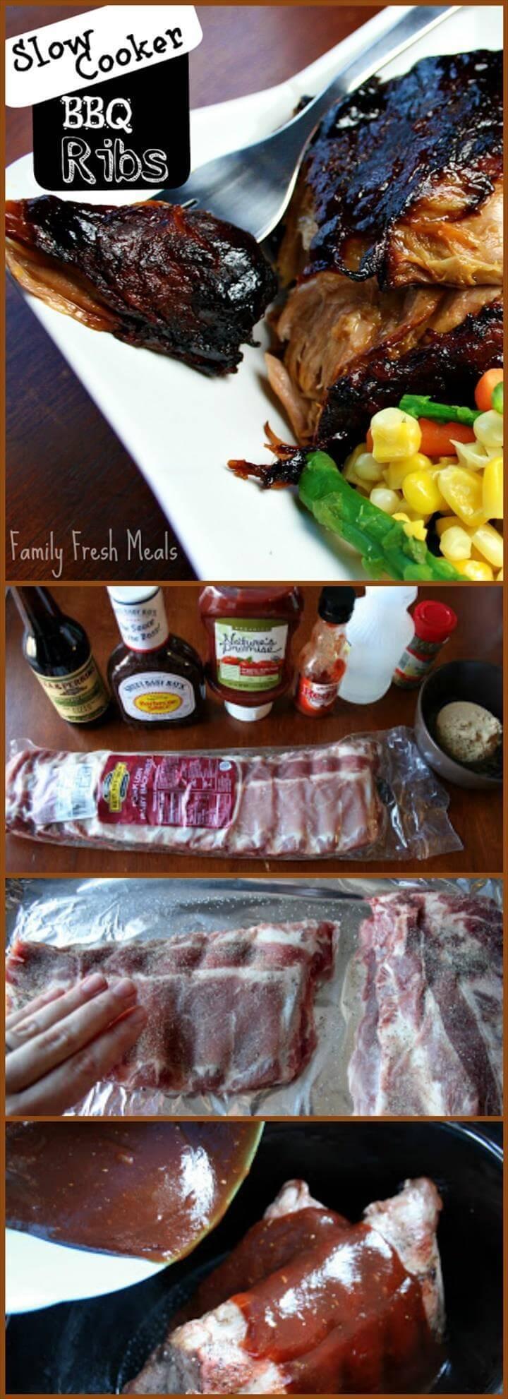 delicious beef crockpot barbecue ribs