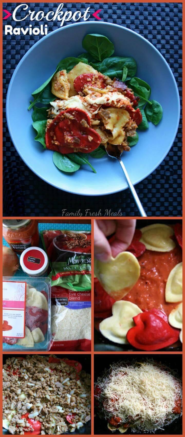 yummy crockpot ravioli recipe