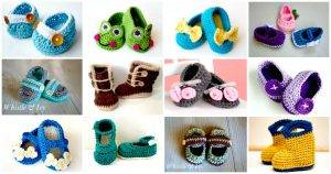 Crochet Baby Booties – Top 40 Free Crochet Patterns