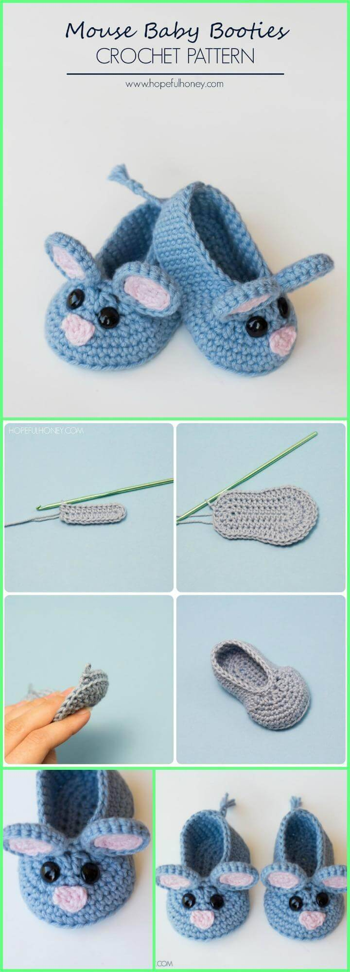 Crochet Baby Booties - Top 40 Free Crochet Patterns - DIY & Crafts
