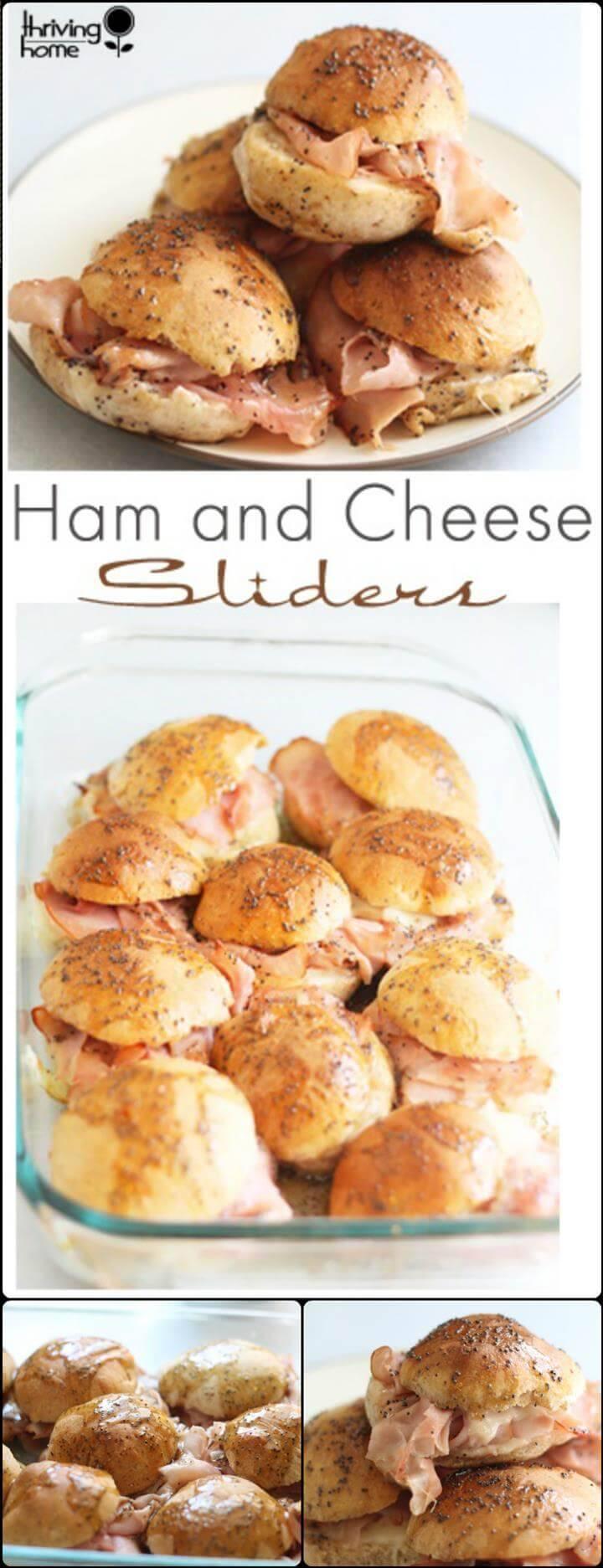 yummy hanm and cheese sliders