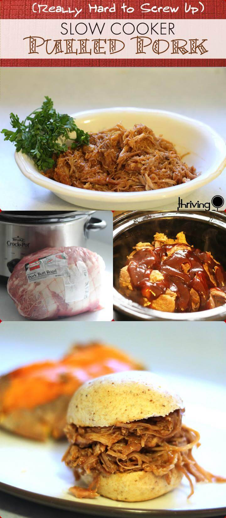 slow cooker pulled pork crowd meal recipe