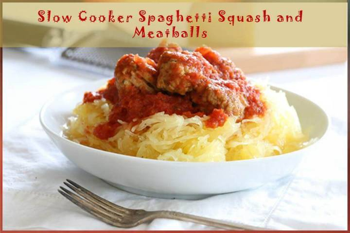 crock pot spaghetti squash and meatballs