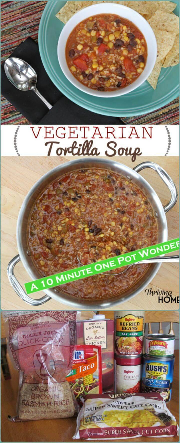 vegetarian tortilla soup for a crowd