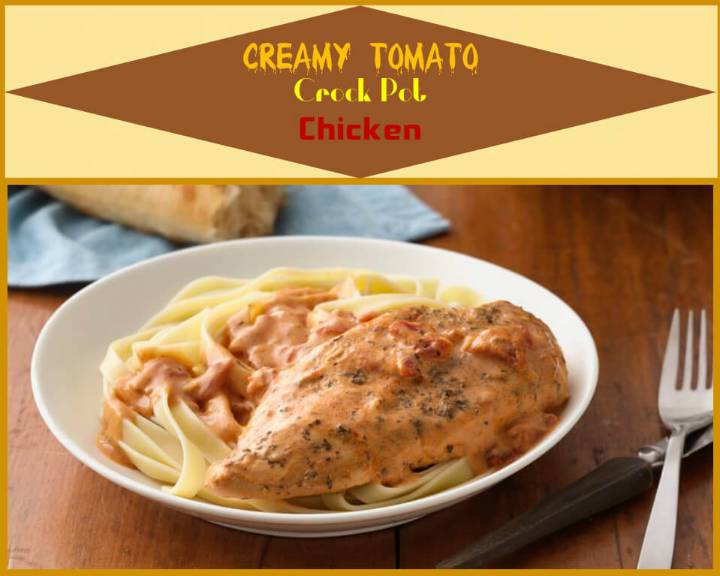 easy creamy tomato crockpot chicken