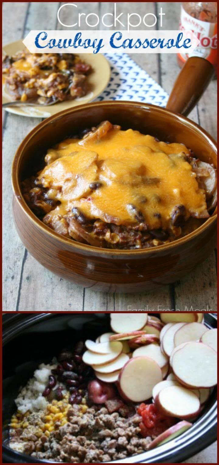 yummy crockpot cowboy casserole