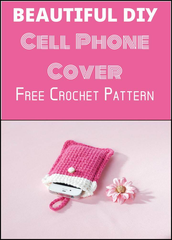 easy and free crochet cell phone pouch