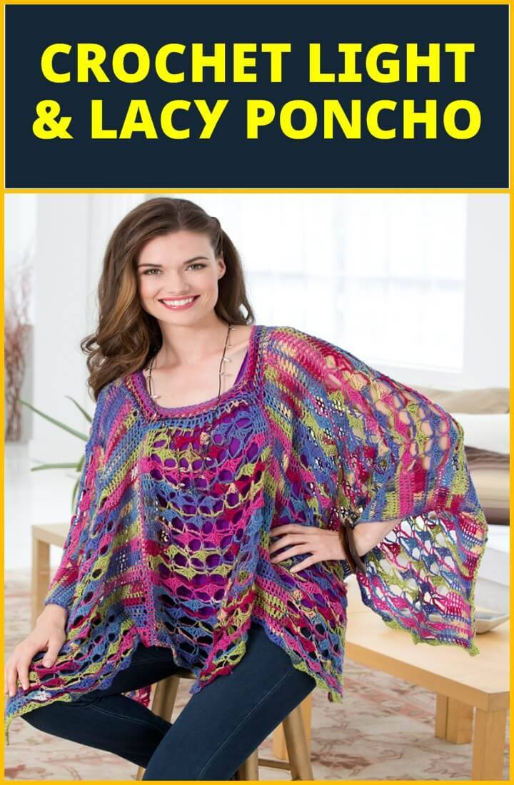 crochet light lacey poncho