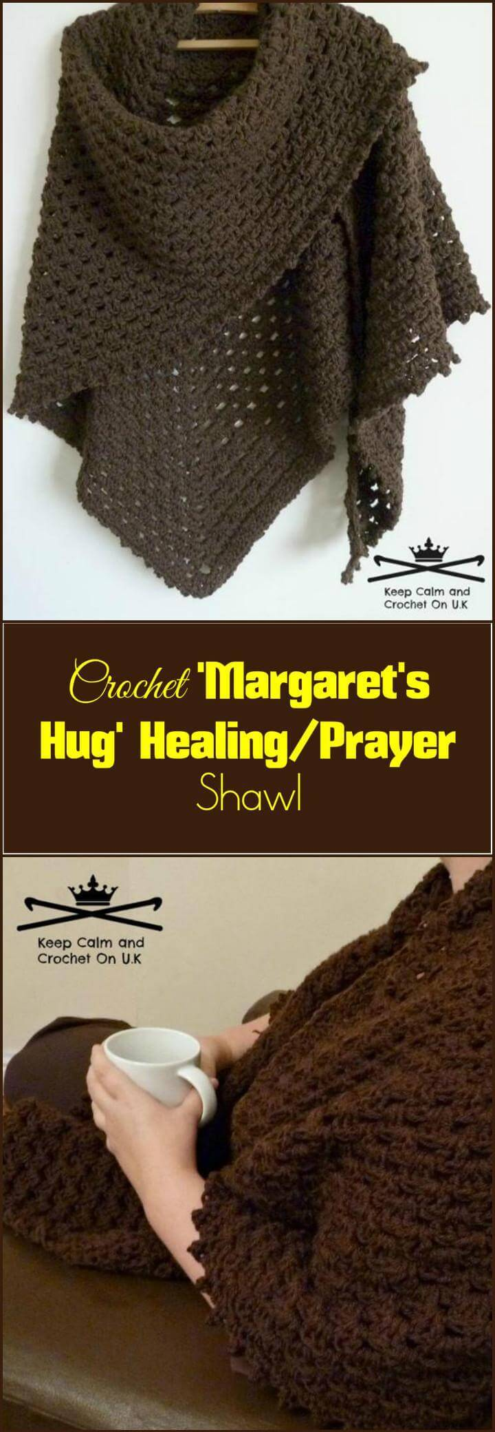 free crochet healing or prayer shawl pattern