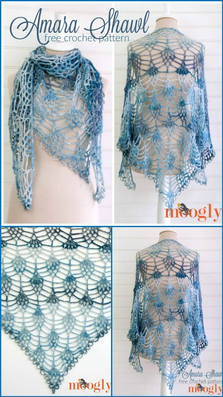 100 Free Crochet Shawl Patterns Diy Crafts With Diagrams Pattern Amara