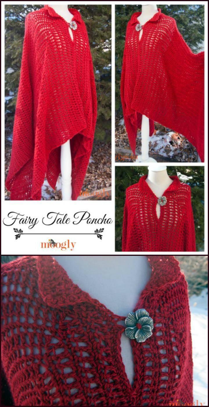 free crochet fairy tale poncho