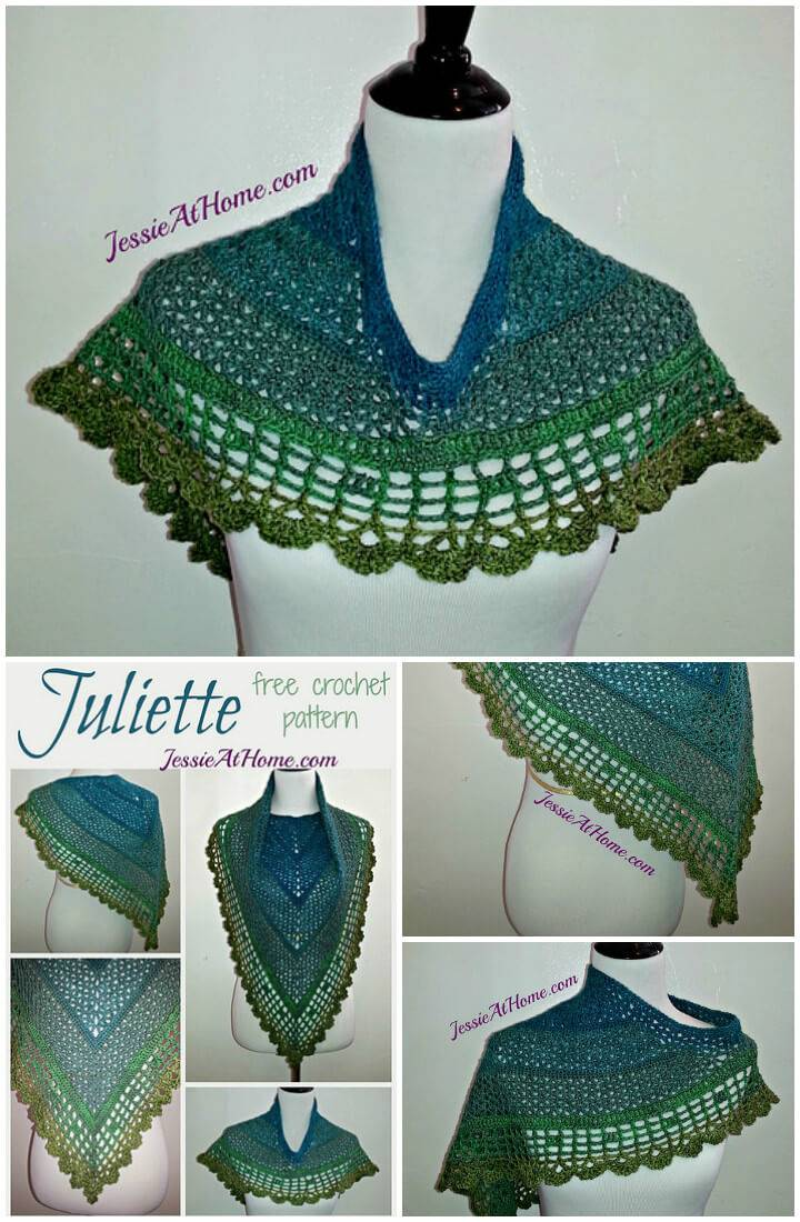 free crochet juliette shawl