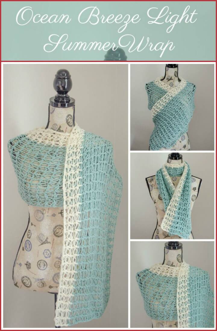 crochet ocean breeze light summer wrap