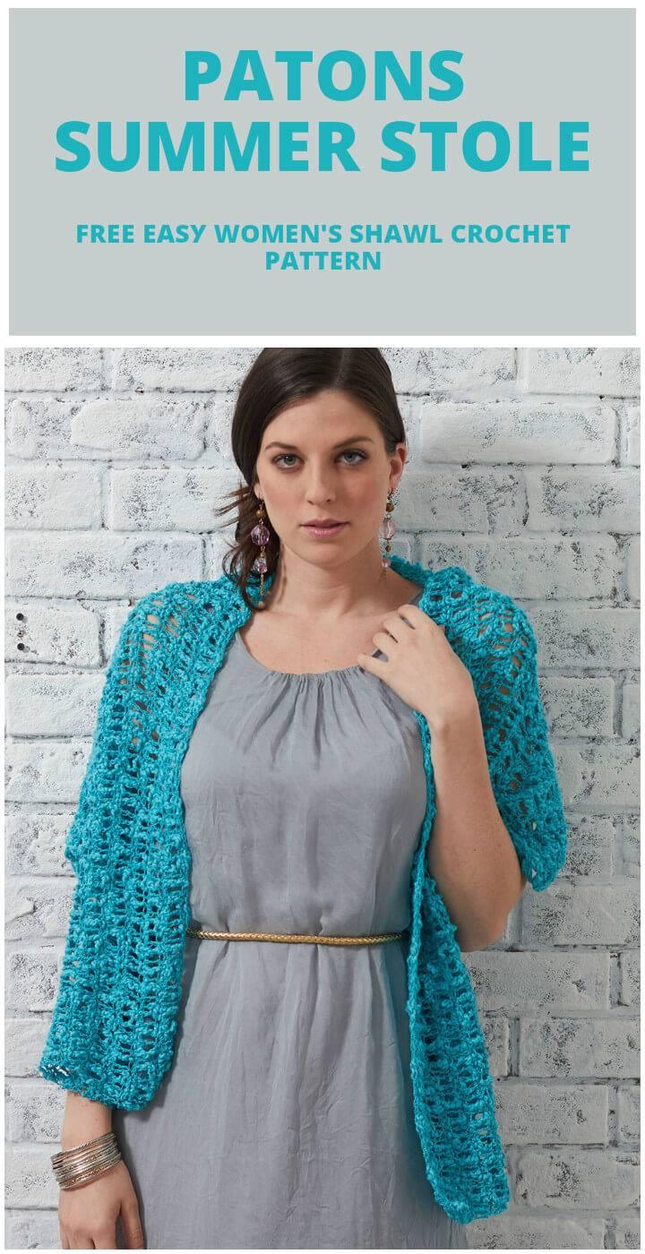 crochet patons summer stole