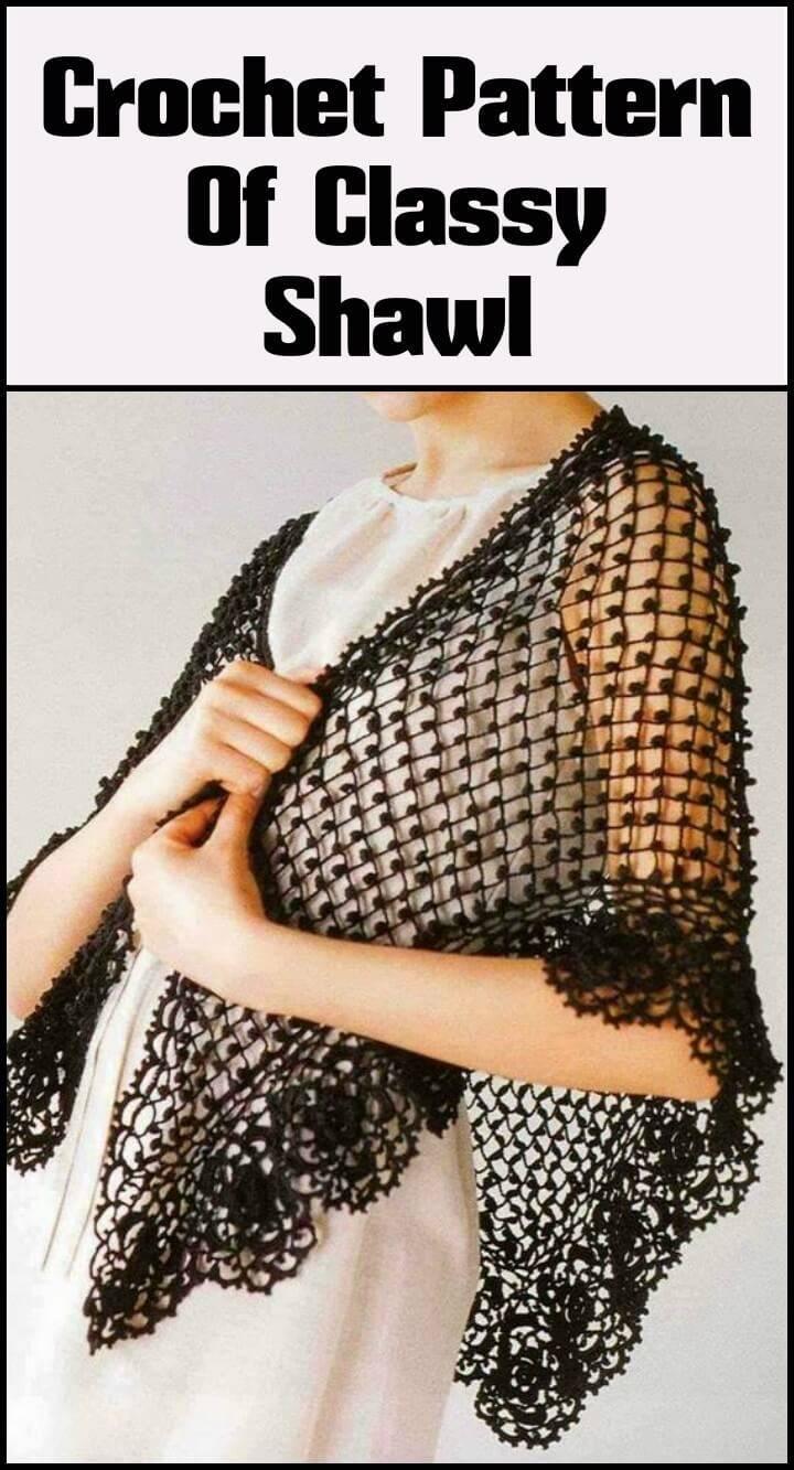 crochet classy shawl