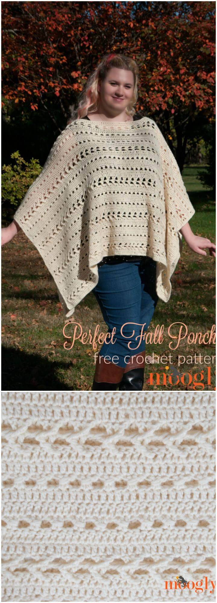 free crochet perfect fall poncho