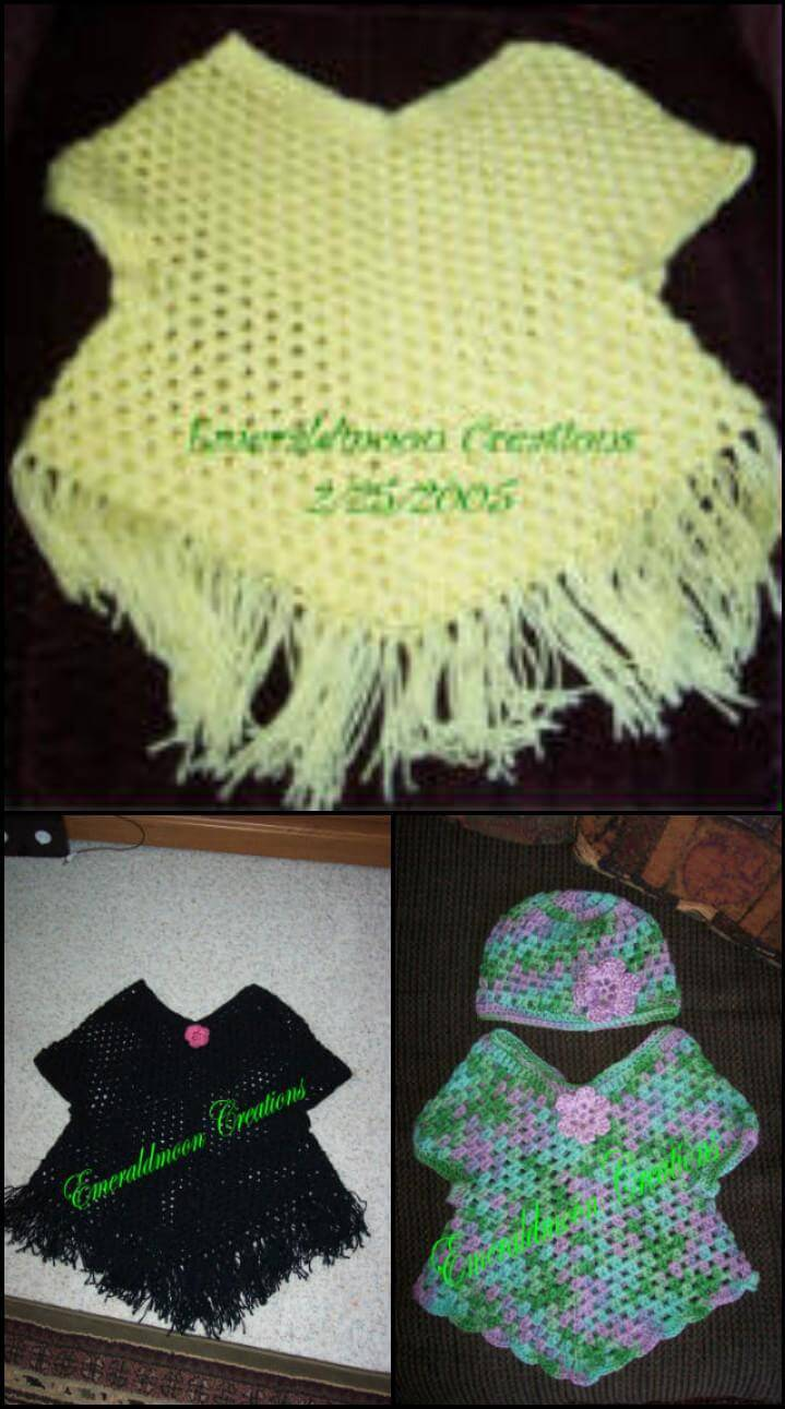 free crochet poncho sweater pattern