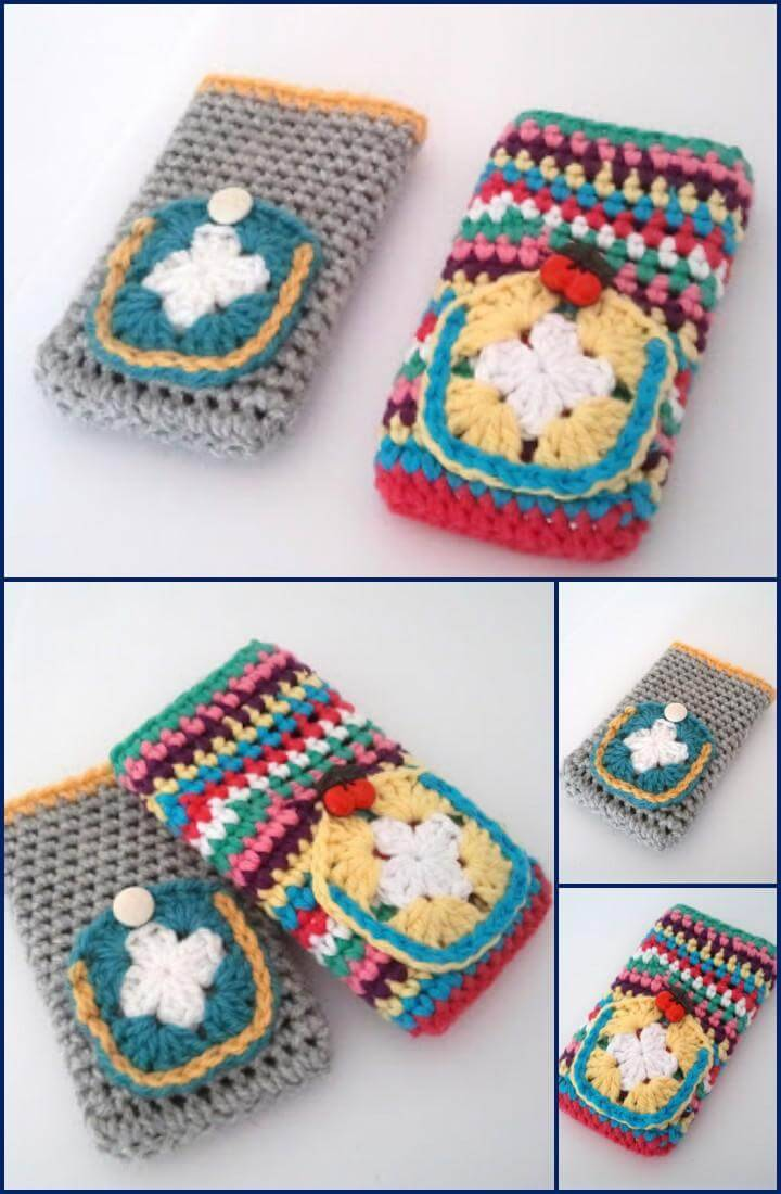 free crochet cell phone cover pattern