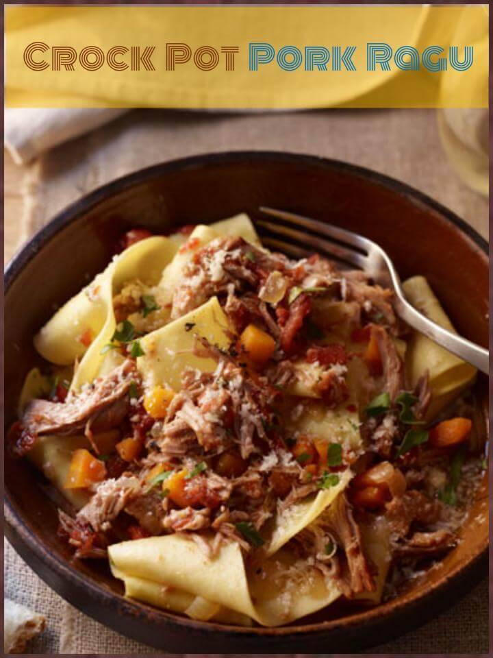 easy crock pot pork ragu