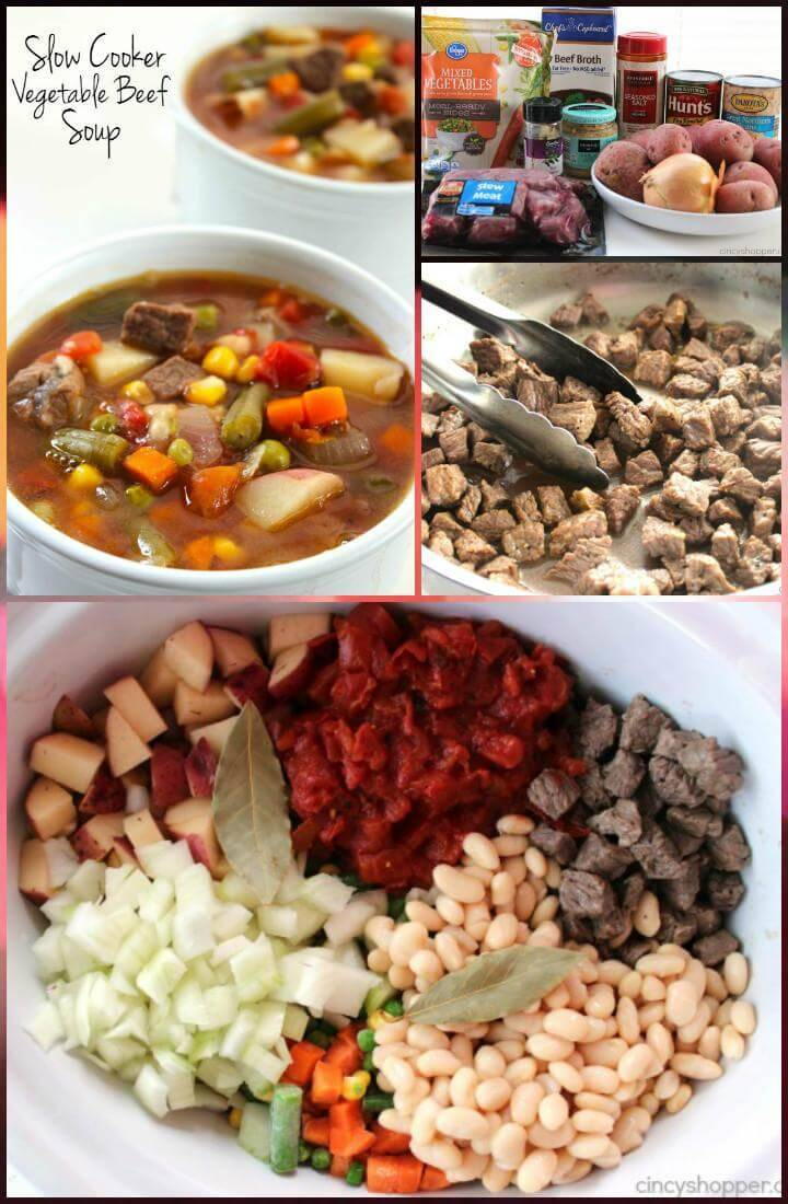 appetizing crockpot vegetable beef soup