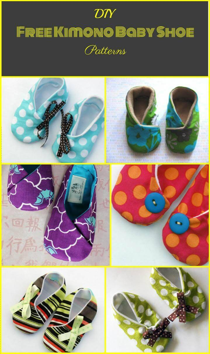 easy kimono baby shoes patterns