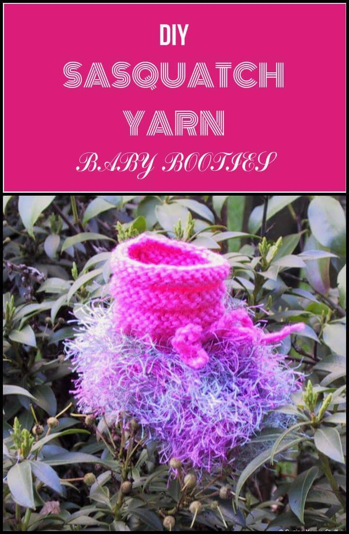 easy Sasquatch yarn baby shoes
