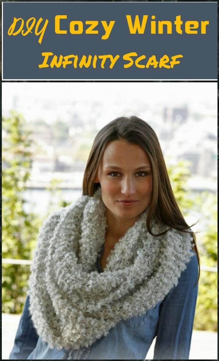 easy and cozy winter infinity scarf