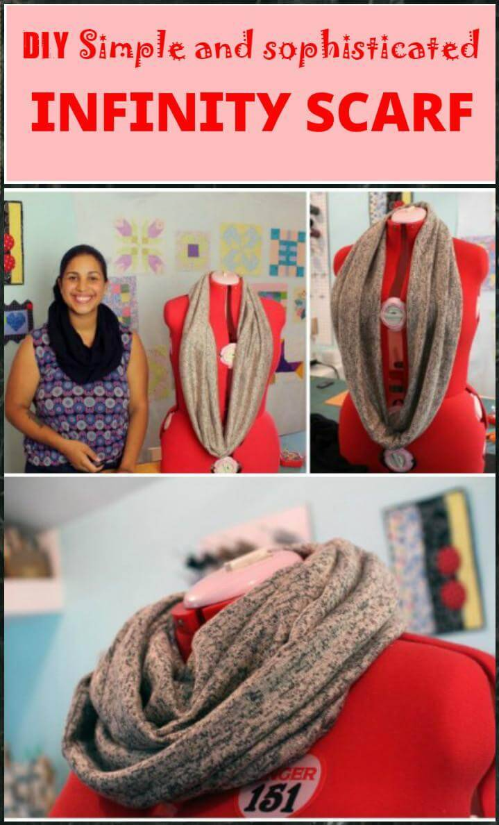 fashion-worthy DIY simple and sophisiticated infinity scarf