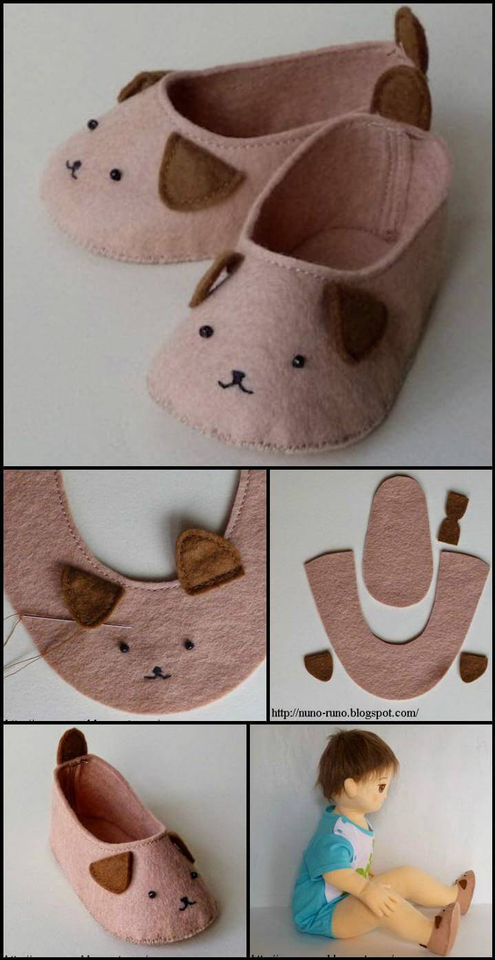easy animal inspired baby shoes