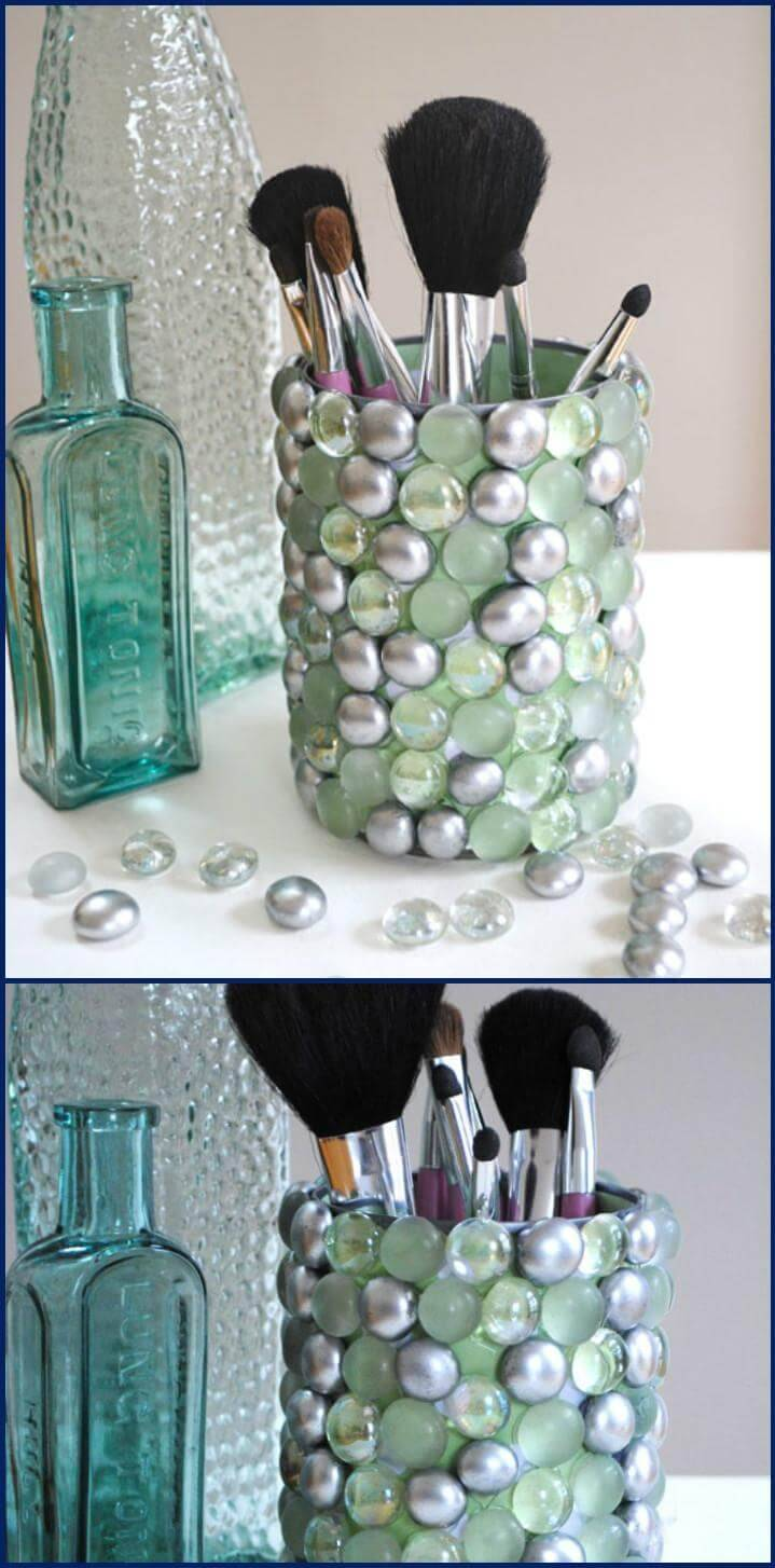 DIY bathroom bling storage