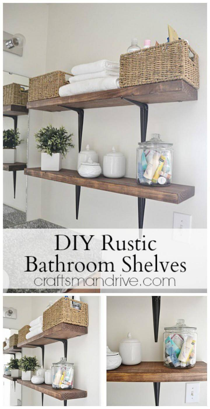 easy bathroom wall shelves