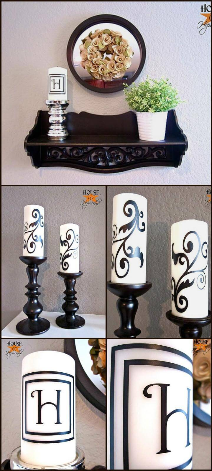 customized vinyl candles