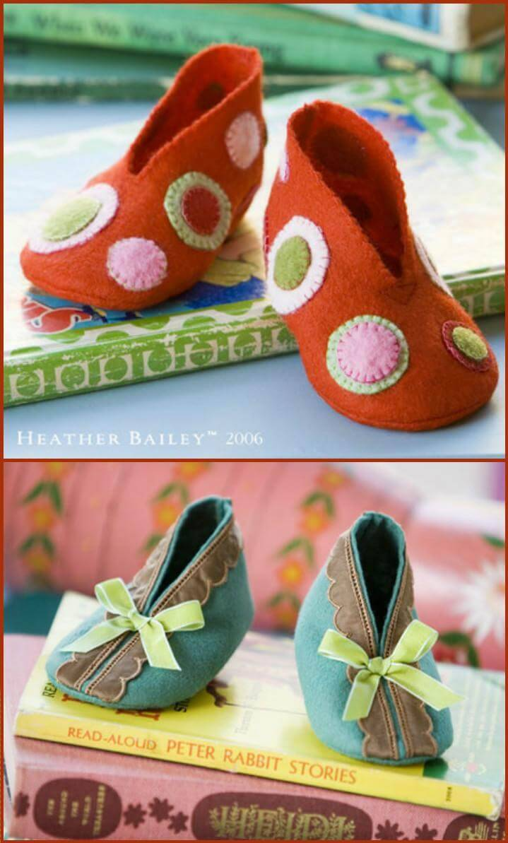 easy handmade bitty booties