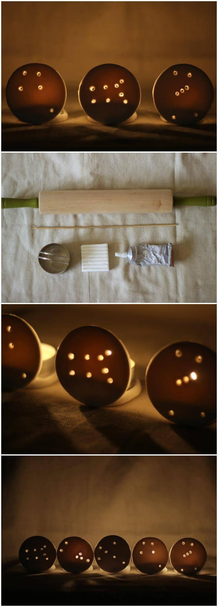 self-made constellation white clay votives
