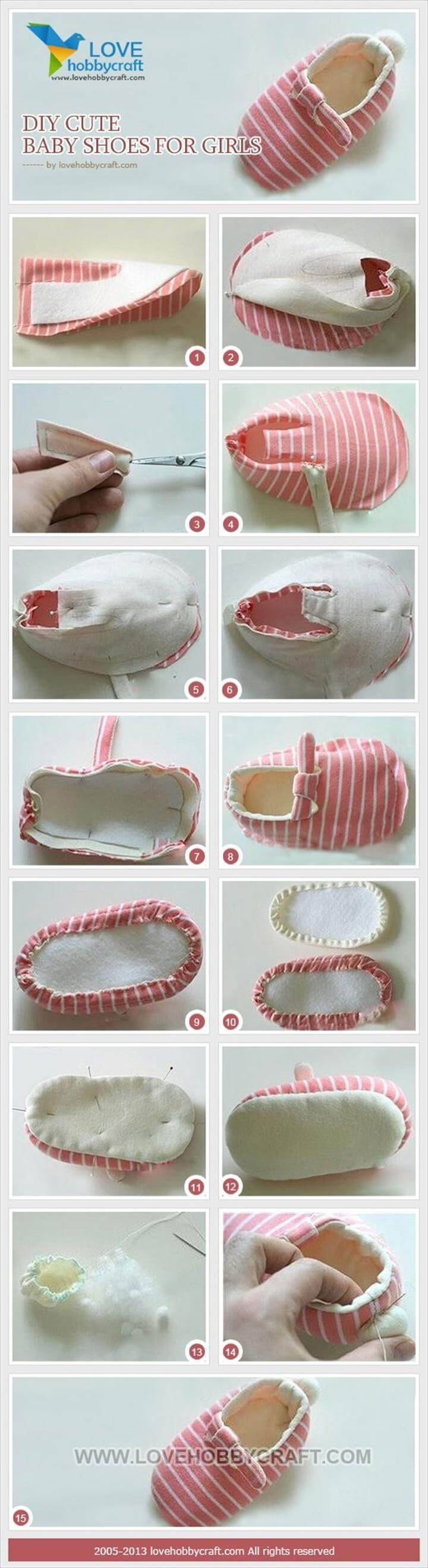 DIY cute baby girls shoes tutorial