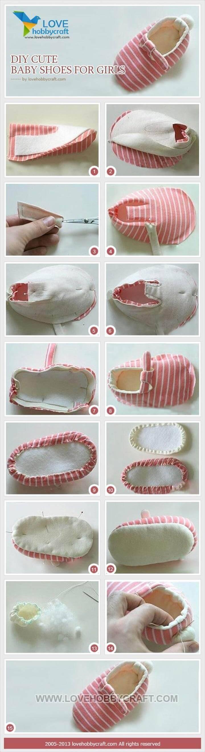 DIY cute baby girls shoes tutorial
