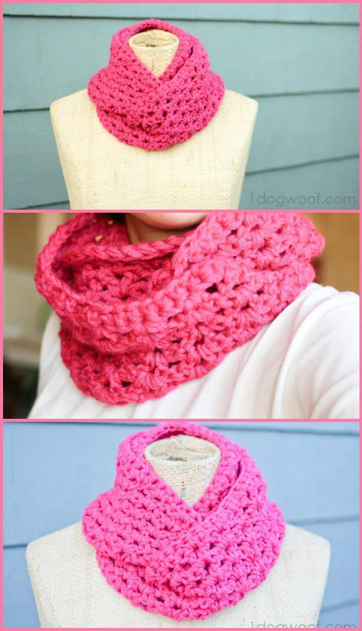 double strand infinity scarf DIY