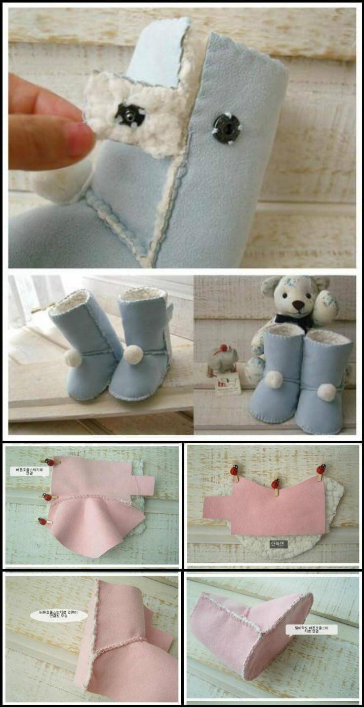 self-made fluffy baby shoes