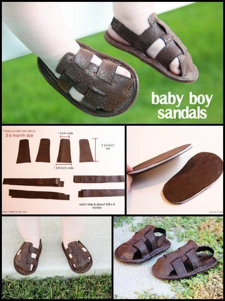 self-made baby boy sandals