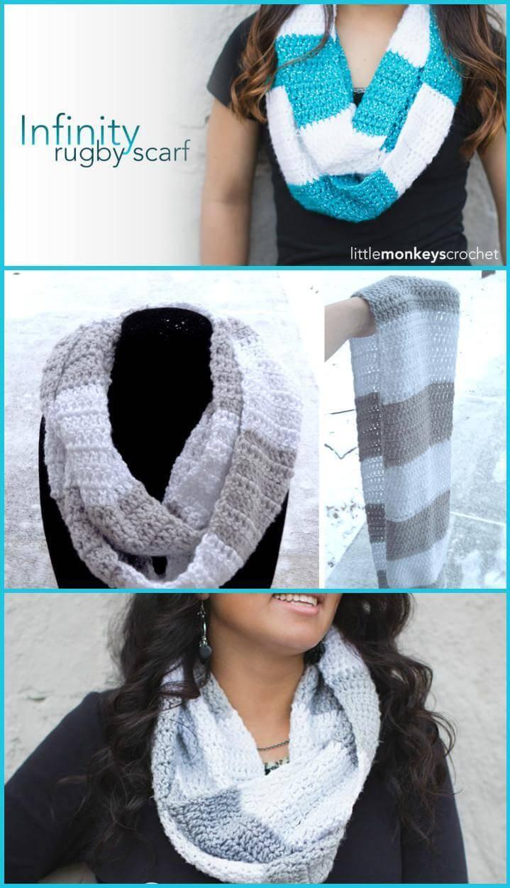 easy DIY infinity rugby scarf