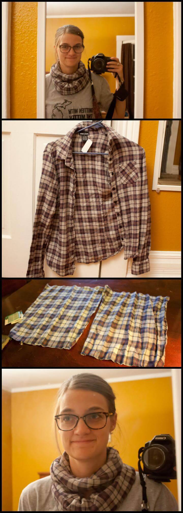 easy old flannel shirt infinity scarf