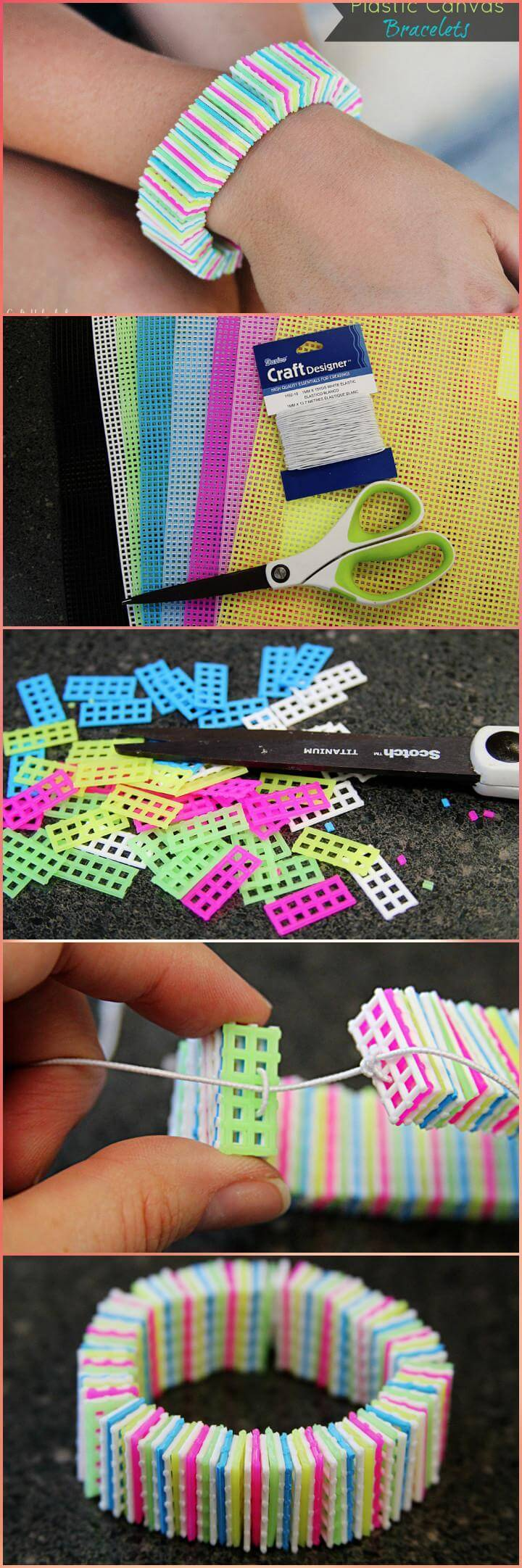 easy plastic canvas bracelet