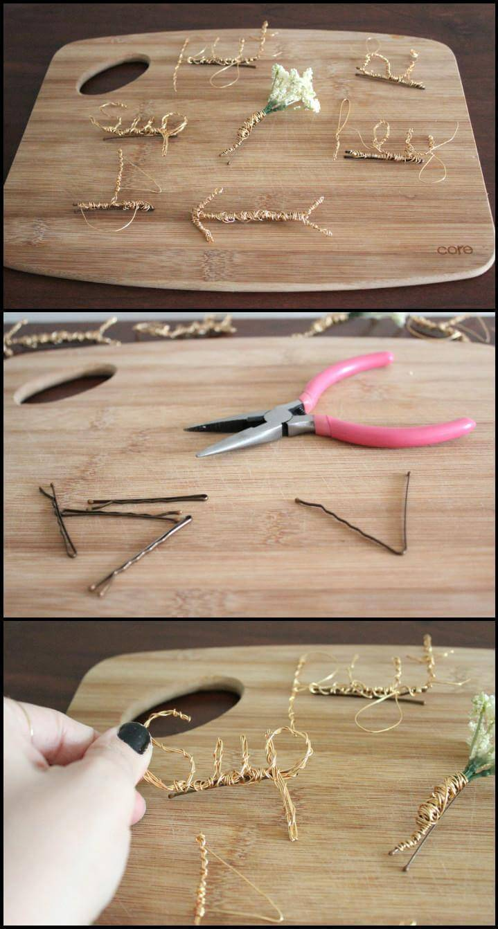 quick and easy wire hairpins