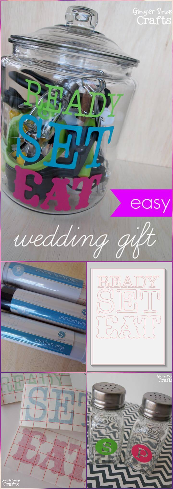 handmade silhouette vinyl easy wedding gift