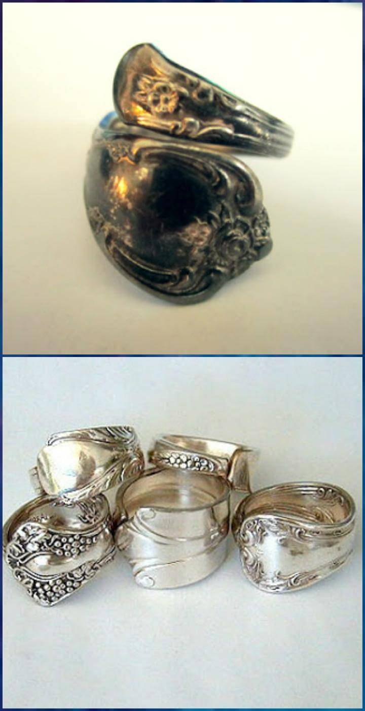 handcrafted spoon rings
