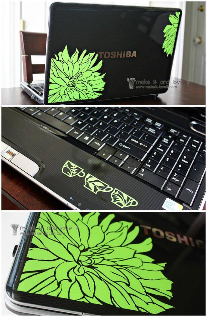 vinyl customized laptop