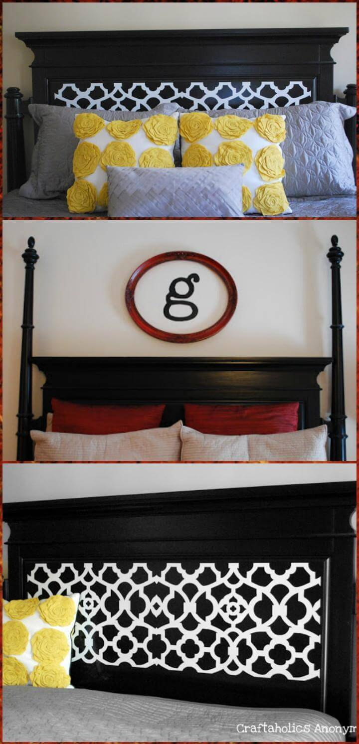vinyl updated headboard