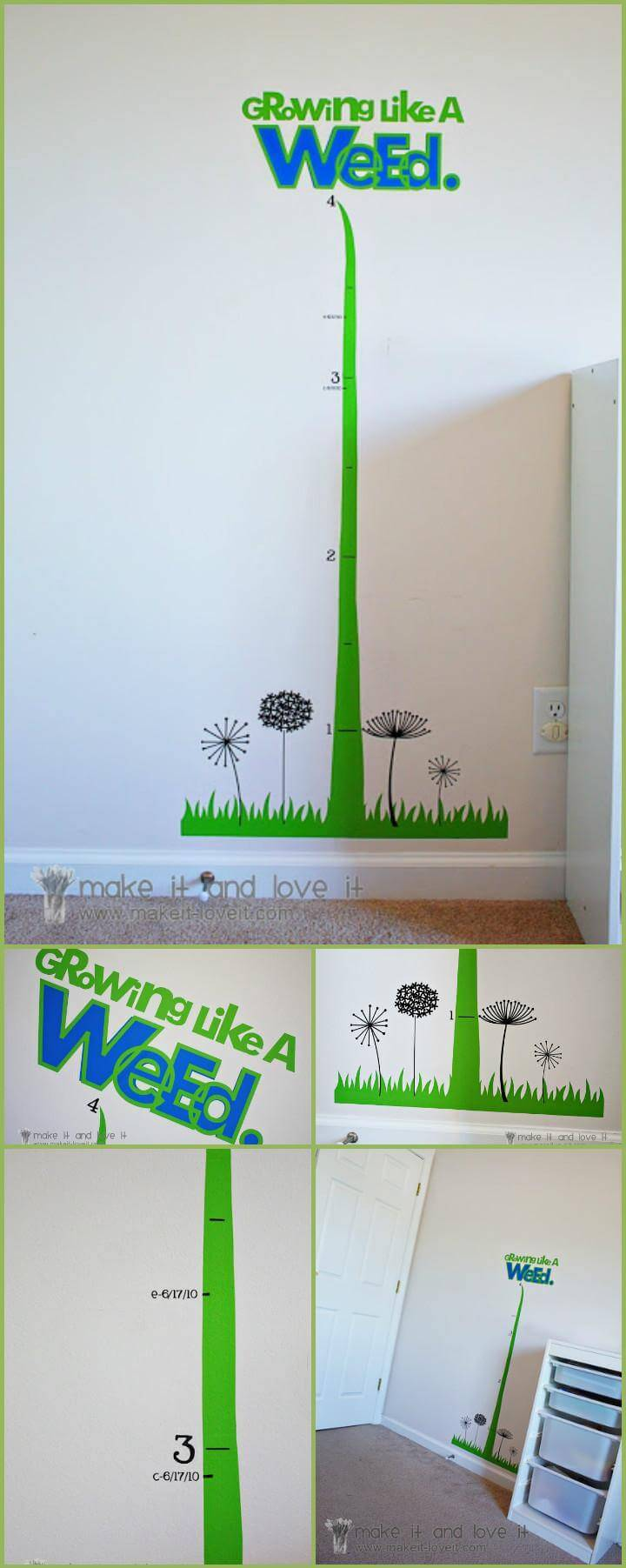 easy vinyl kids room growth chart