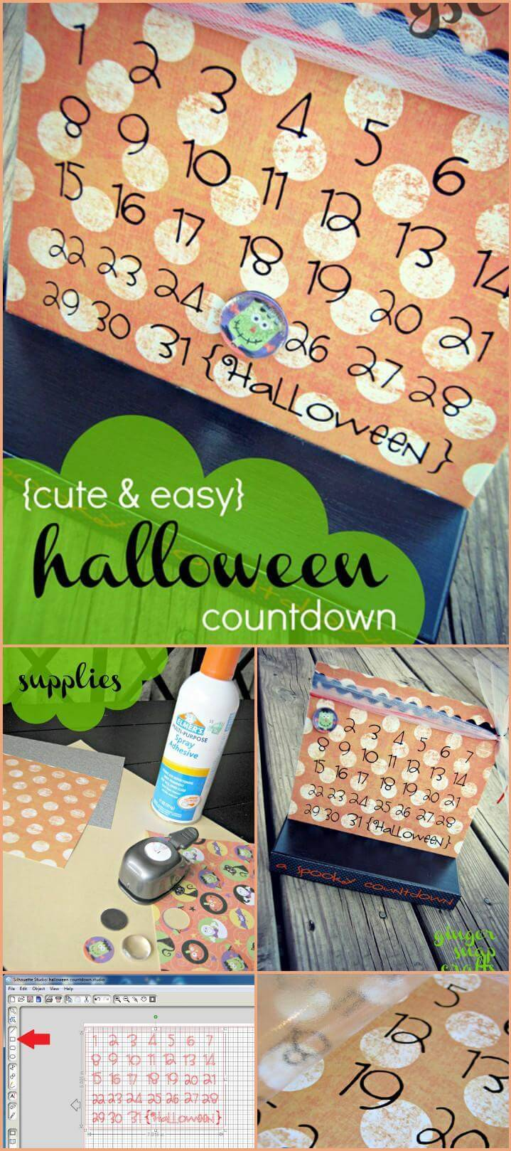 easy vinyl lettering fall crawl halloween countdown