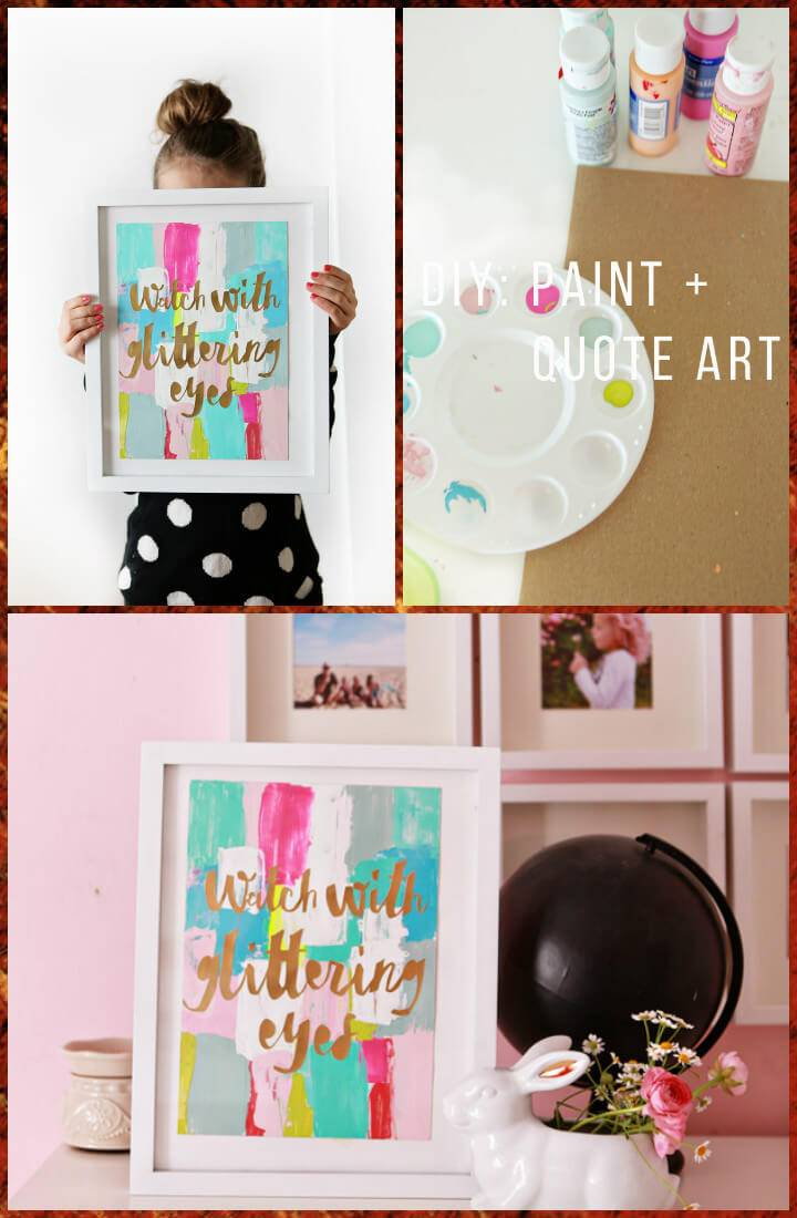 vinyl lettering and paint abstract art